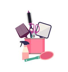 professional hairdresser tools barber fashion vector image