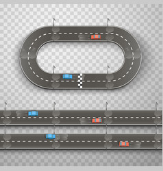 Racing on the road art vector