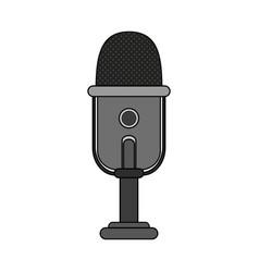 Recording microphone icon image vector