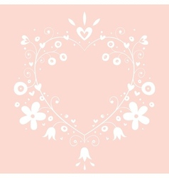 romantic heart banner frame background with copy vector image