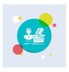 salary shopping basket shopping female white vector image