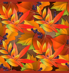 seamless pattern on wooden board with red and vector image