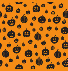 Seamless pattern with pumpkin background vector