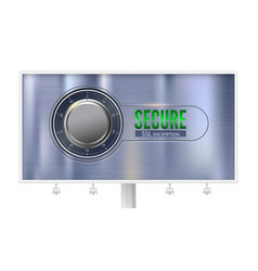 Secure ssl connection billboard with poster vector