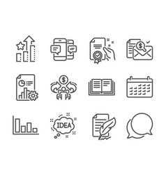 Set education icons such as chat message vector