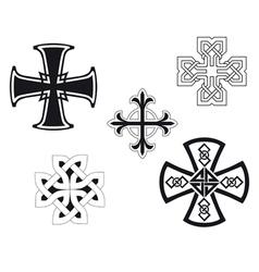 Set of religious crosses vector image