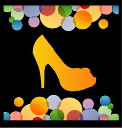 shoe background vector image