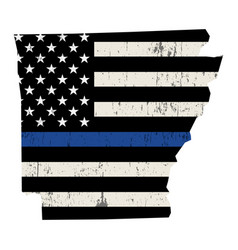 State arkansas police support flag vector