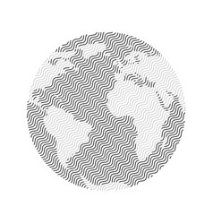 Striped earth planet vector