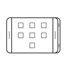 tablet line art simple gadget icon vector image vector image