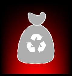 trash bag icon style vector image
