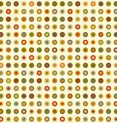 vintage seamless background round elements dots vector image