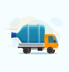 water delivery isolated vector image