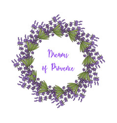 Wreath of lavender vector
