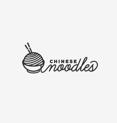 chinese noodles logo vector image vector image