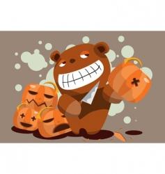 evil teddy vector image