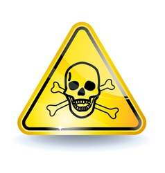poison sign vector image vector image