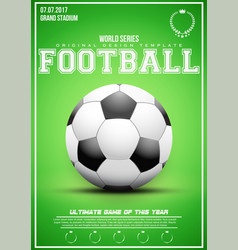 sporting poster of football vector image