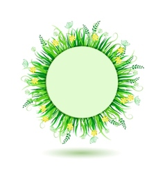 Beautiful green meadow vector image