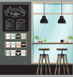 coffeehouse interiors vector image vector image