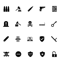 Crime Icons 3 vector image