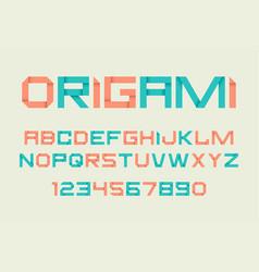 paper folding alphabet vector image