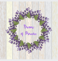wreath of lavender vector image vector image