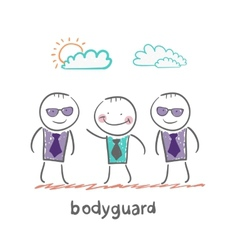 Bodyguard vector image vector image
