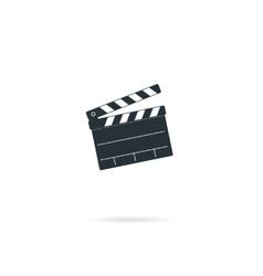 Cinema clapper board vector