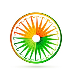 Indian flag wheel design with tri colors vector
