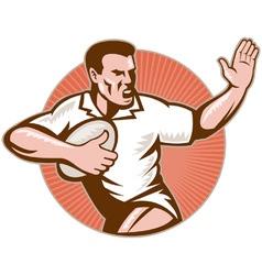 retro rugby icon vector image vector image