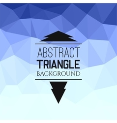 Abstract blue triangle pattern vector image vector image