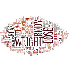 lose the stomach fat everyone has trouble spots vector image vector image