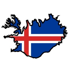 Map in colors of Iceland vector image