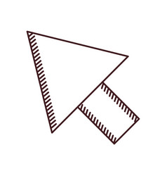 Monochrome silhouette of arrowhead icon vector