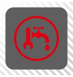 Plumbing Rounded Square Button vector image vector image