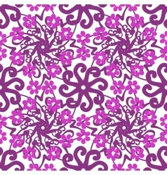 Seamless floral hand-drawn pattern vector image
