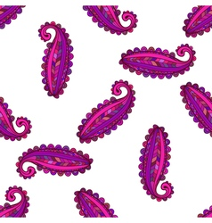 Seamless pattern of colorful paisley vector image vector image