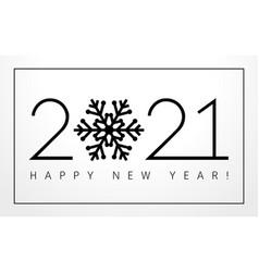 2021 new year black snowflake vector image
