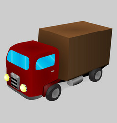 a cartoon truck in isometric vector image
