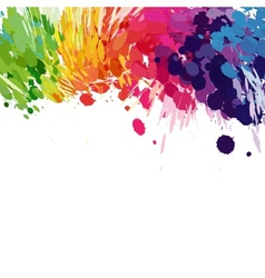 Abstract background of colored splashes blots vector image