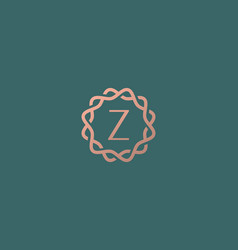 Abstract linear monogram letter z logo icon design vector