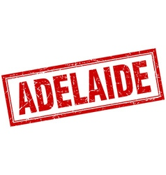 Adelaide red square grunge stamp on white vector