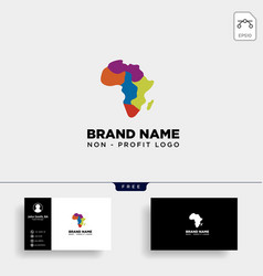 africa care non profit logo template icon element vector image