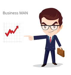 Business Man Glasses character vector