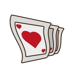 cartoon pocker playing card magician vector image