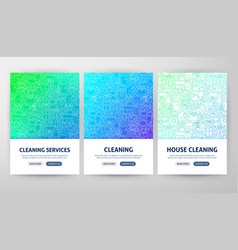 cleaning services flyer concepts vector image