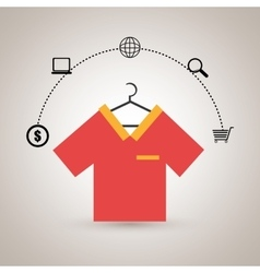 clothes wear buy online vector image