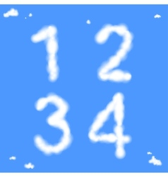 Cloud Numbers vector