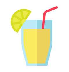 Cocktail flat icon food and drink vector